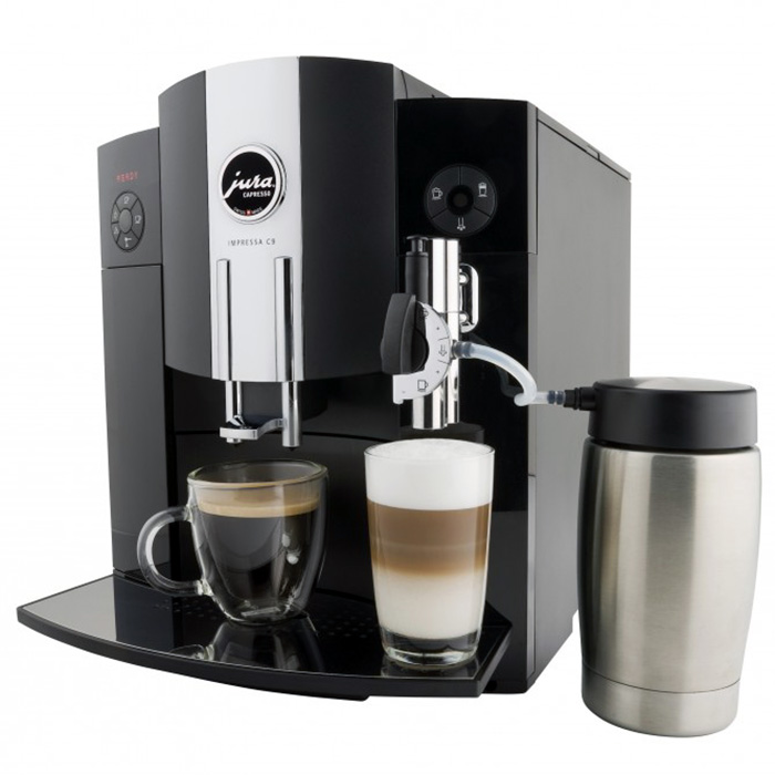 Refurbished Jura C9 One Touch with milk attachment image